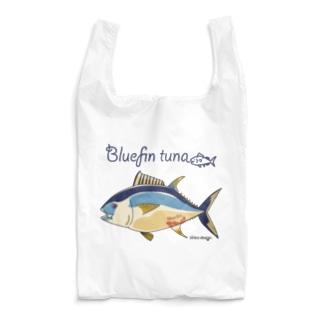 Kinkadesign うみのいきものカワイイShopのクロマグロ_うみのいきもの Reusable Bag