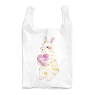 しず華*(カラー・リボンボン)のきゅんきゅんうさぎ Reusable Bag