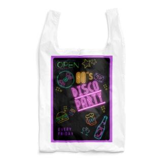 80年代 ディスコ パーティー ポスター柄 Reusable Bag