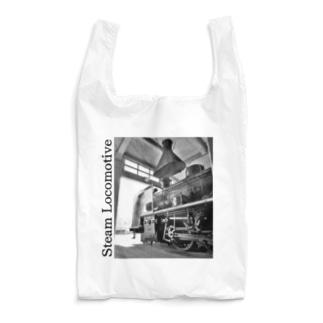 扇形車庫にスタンバイ中のSL Reusable Bag