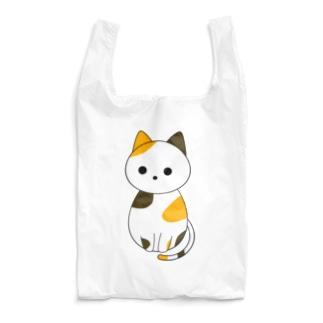 斜め下を見る三毛猫 Reusable Bag