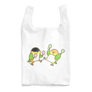 踊るシロハラさんズグロシロハラさん Reusable Bag