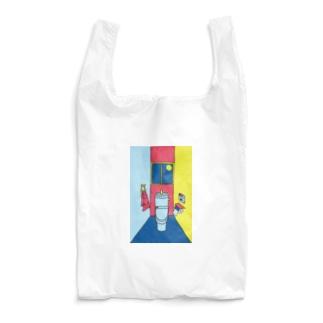 カラフルな一室のトイレ Reusable Bag