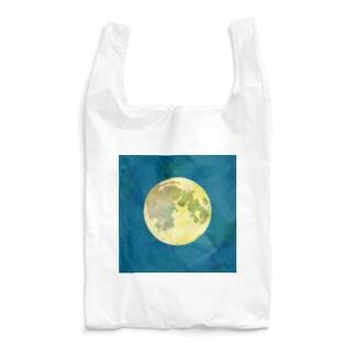 月(青地) Reusable Bag