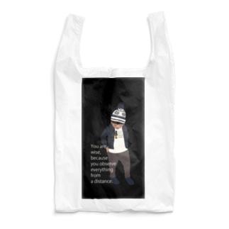 ノルディック帽の少年BK(スマホサイズ) Reusable Bag