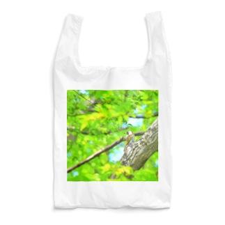 新緑とアオゲラ Reusable Bag