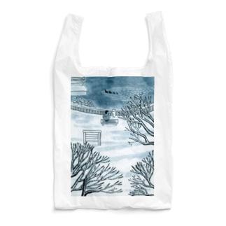 シロと歩けば 冬 Reusable Bag