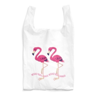 CT103 22*フラミンゴのメッセージA Reusable Bag
