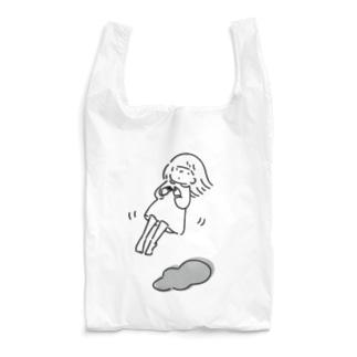 ふわふわ〜ふわり浮かぶ女の子 Reusable Bag