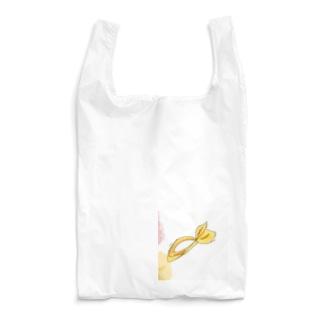 水彩と黄色のバンダナ(うさみみ) Reusable Bag