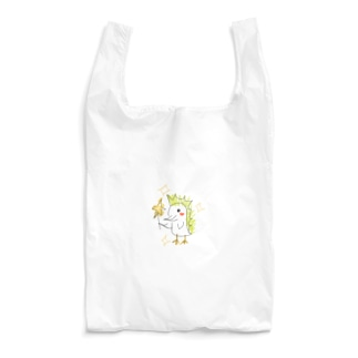 黄緑髪ピーちゃん ペン+雑塗りver. Reusable Bag