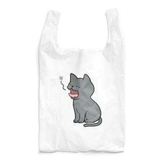 あくびをするロシアンブルー  Reusable Bag