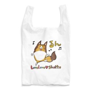 らぶらぶ♡シェルティエコバッグ〜るん〜 Reusable Bag