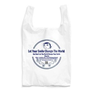 Charlie ロゴ ブルー  Reusable Bag