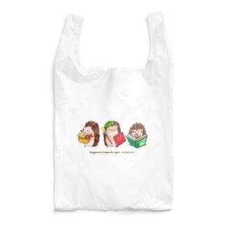 秋のハリネズミトリオ Reusable Bag