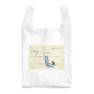 猫背で夕陽を見る会 Reusable Bag