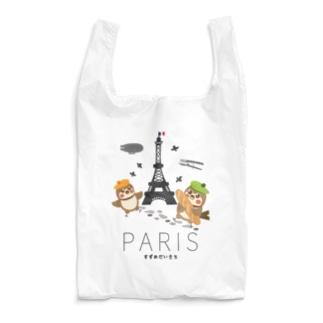 Hello! すずめだいきち(PARIS) Reusable Bag