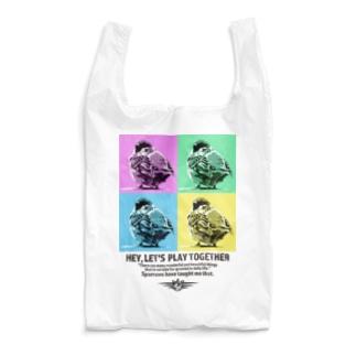 スズメのおチリ(ポップアート風) Reusable Bag