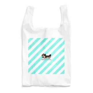 ミケネコ便(ミントブルーストライプ) Reusable Bag