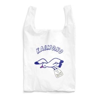 Futakawa Mayuのグッズショップのエコバッグ かもめ Reusable Bag