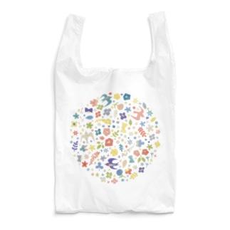 小さなモチーフの刺繍 Reusable Bag