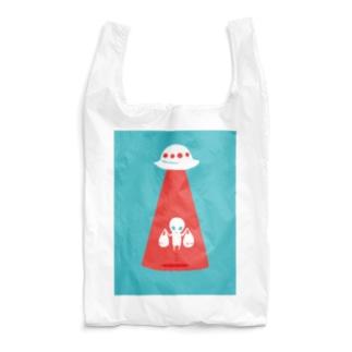 未確認ECOバッグ<お買い物帰りの宇宙人> Reusable Bag