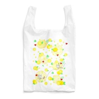 手足棒にゃん!れもんがいっぱい! Reusable Bag