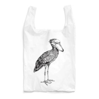 ハシビロコウ_black Reusable Bag