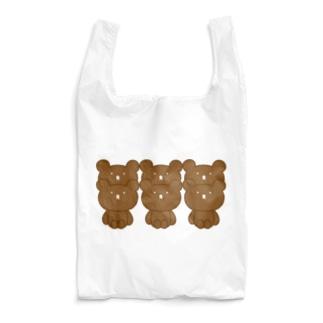 のんびりのこショップの整列くまさん Reusable Bag