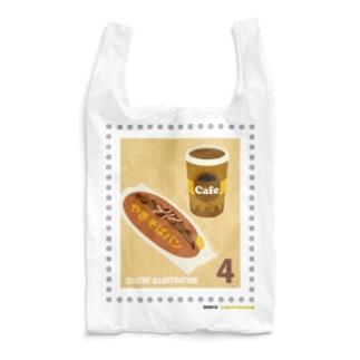 キャトル切手_やきそばパン Reusable Bag