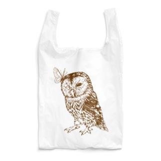 モリフクロウ_brown Reusable Bag