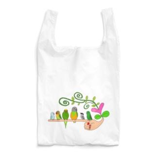 手乗りインコさん♡ Reusable Bag