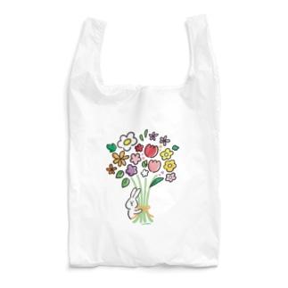 うささんとお花   Reusable Bag