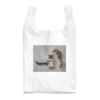 羊毛フェルトのふわふわりす Reusable Bag