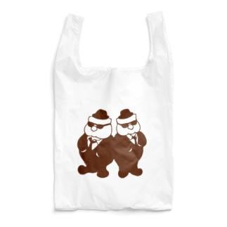 ほっぺぇた(頬平太)のふっくらブラザーズ 茶 Reusable Bag
