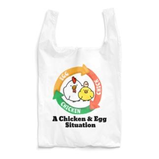 鶏が先か卵が先か Reusable Bag