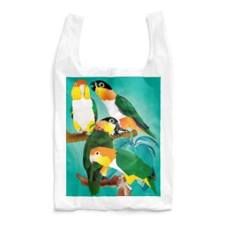 シロハラズグロシロハラインコ Reusable Bag