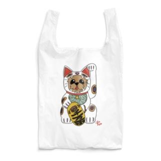 幸運を呼ぶ 招き猫だワン🐾 Reusable Bag
