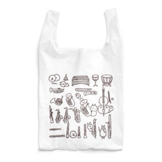 吹奏楽楽器大集合 Reusable Bag