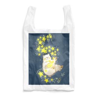 キラキラしろくま(紺) Reusable Bag
