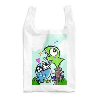 おたべザウルス~サメ釣り?~ Reusable Bag