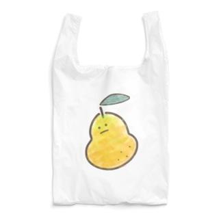 無表情な梨 Reusable Bag