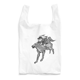 びわ鍾馗様と犬神 Reusable Bag