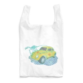 車とラプトル Reusable Bag