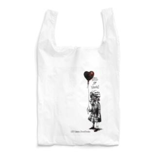ガスマスクガール (white) Reusable Bag
