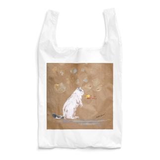 にゃんゴジラ(ましかく) Reusable Bag
