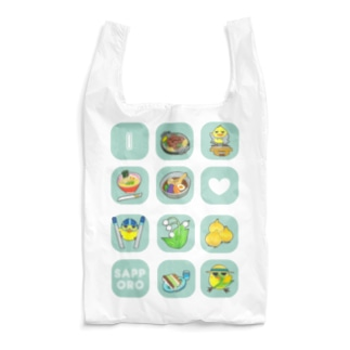 とりかぶと将軍 I LOVEさっぽろ エコバッグ Reusable Bag