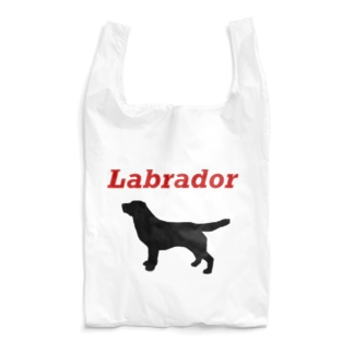 ラブラドールシルエット Reusable Bag