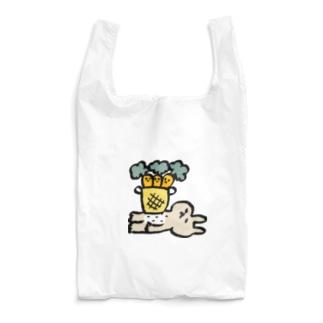シュールなウサギとにんじん Reusable Bag