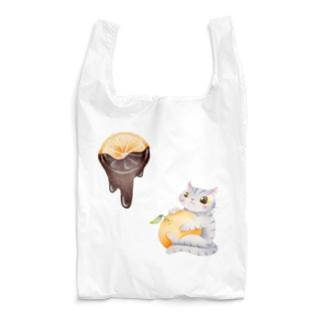 オレンジチョコと猫 Reusable Bag